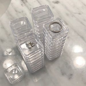 Other - Set of 30 stackable jewelry containers